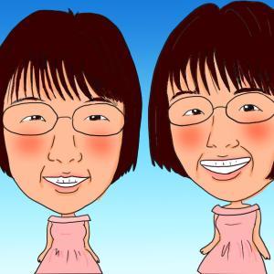 阿佐ヶ谷姉妹の似顔絵完成しました。