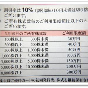 株主優待(三越伊勢丹)