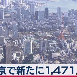 東京で1,471人感染 1月3万人超感染(2021年1月21日)