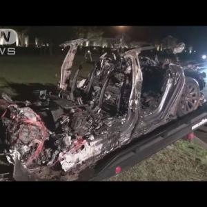 米でテスラ車が事故、炎上・・・2人死亡 運転席不在で(2021年4月19日)