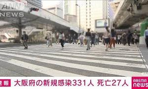 新型コロナ 大阪の新規感染者331人 死亡27人(2021年5月26日)