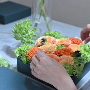 花材モリモリのBOXフラワー