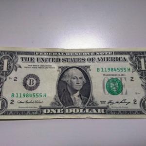 戒めの1ドル紙幣