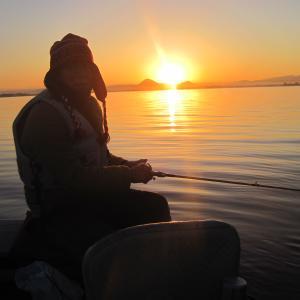 琵琶湖寒中釣行