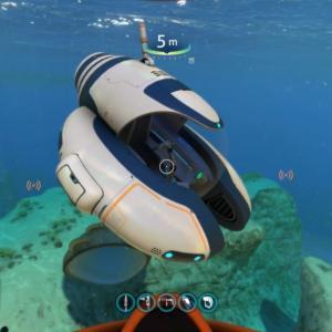 サブノーティカ初心者ワイ、頑張って作った潜水艦を壊され泣く