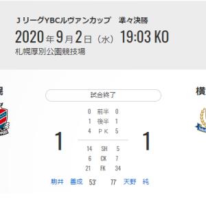 【試合後】YBCルヴァン杯 準々決勝 VS北海道コンサドーレ札幌