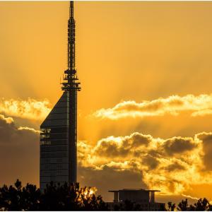 ~夕暮れの福岡タワー~