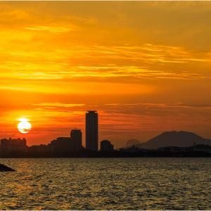 ~博多湾の夕日~