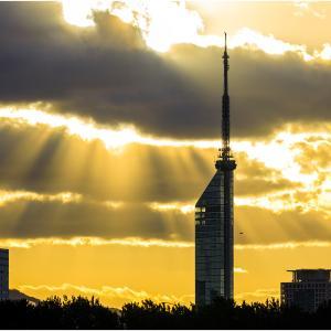 ~タワーと夕日~