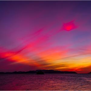 ~博多湾の夕焼け~