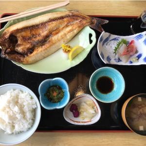 芝亭の焼魚定食(刺身付き)