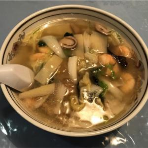 ハオチィ庄屋の海老あんかけ湯麺