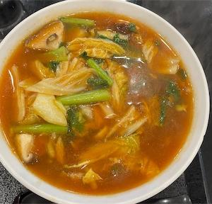 庄屋で海鮮酸辣湯麺
