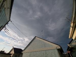 不安定な天候