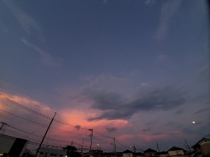 海の日の夕焼け