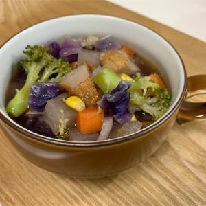 壁掛けゴミ箱でスッキリ&野菜スープ
