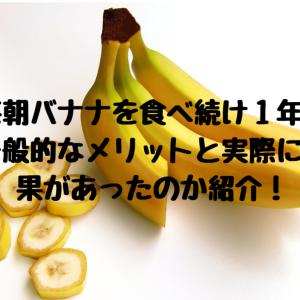 毎朝バナナを食べ続け1年!一般的なメリットと実際に効果があったのか紹介!