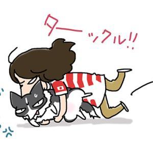 ラグビーに翻弄される犬・10月15日の飼い主/【犬マンガ】