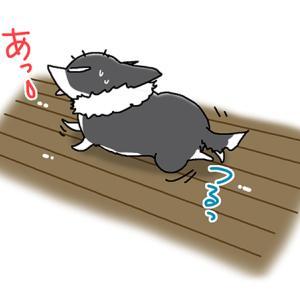 すべる床・5月13日のピピぞう/【犬マンガ】
