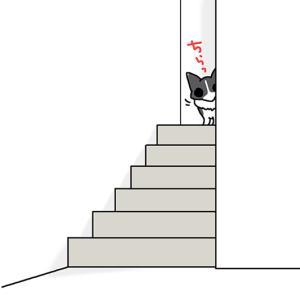 踊り場の犬・5月28日のピピぞう/【犬マンガ】