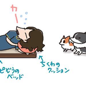 寝床拝借・8月4日の飼い主/【犬マンガ】