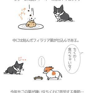例のものを仕込む季節・5月10日のちくわ/【犬マンガ】