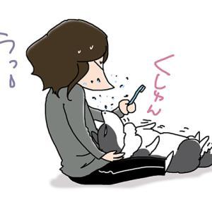 浴びせかけられる飼い主・5月18日のピピぞう/【犬マンガ】