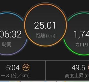 週末のロングラン25km