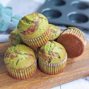 オイルで作る簡単レシピ。ココアと抹茶のマーブルマフィン