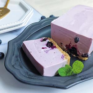パウンド型で作るブルーベリーレアチーズケーキのレシピ
