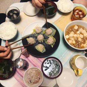 麻婆豆腐と皮なししゅうまい
