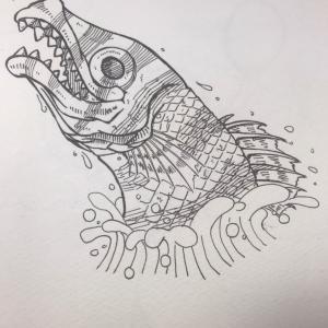 インクトーバー2020に参加 1日目『魚』