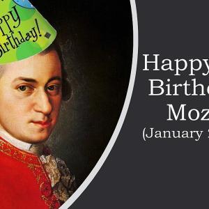 265回目のお誕生日おめでとうございます、モーツァルトさん!