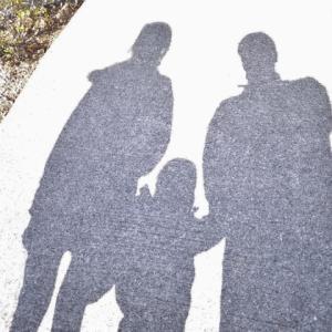 親子三人で、ちい散歩