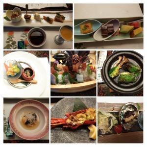 旅館の料理完食