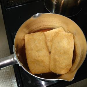 白だしと冷凍麺で、簡単きつねうどん