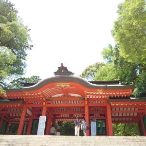 香取神宮とレトロ自販機コーナー「24丸昌」家族ドライブ