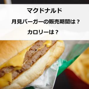 マクドナルド 月見バーガー販売期間は?カロリーは?