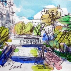 春の堀江川