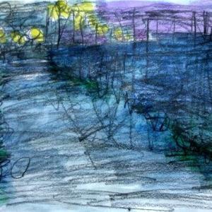 堀江ドックの夕景