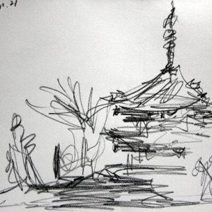 三渓園の三重塔