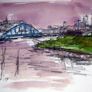 旧江戸川の夕景