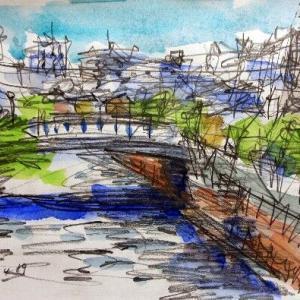 新緑の浦安境川