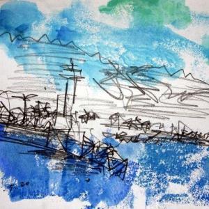 飛島勝浦港風景