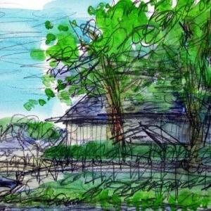 小春日和の山居倉庫
