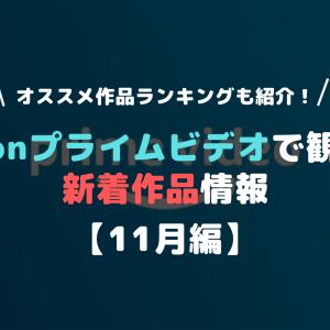 【2019年11月編】Amazonプライムビデオ新着作品情報 オススメ作品ランキング