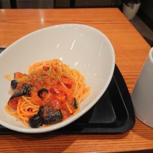 ナスとベーコンのトマトパスタ@タリーズコーヒー オリックス本町店(大阪市西区西本町)