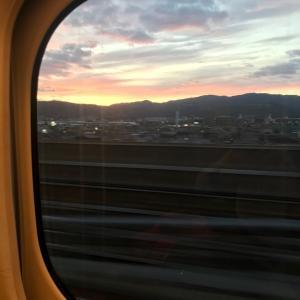 今帰りの新幹線です。