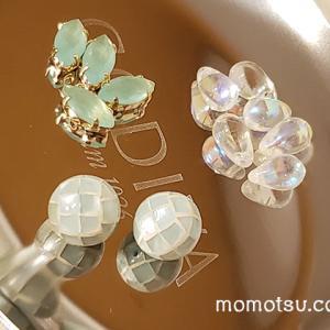 夏に使いたいアクセサリー素材 シェル、チェコガラス、カットガラス