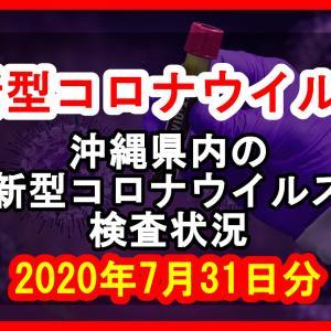 【2020年7月31日分】沖縄県内で実施されている新型コロナウイルスの検査状況について